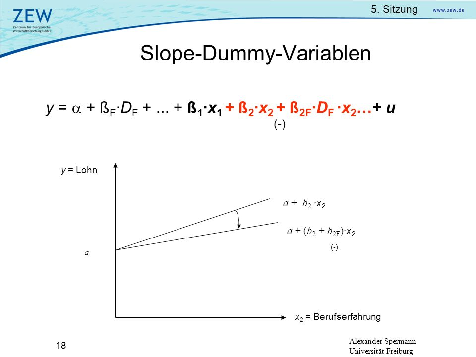Slope-Dummy-Variablen