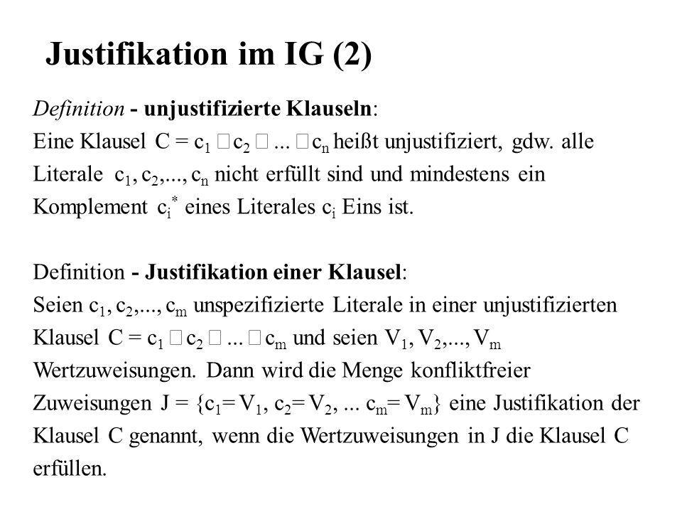 Justifikation im IG (2) Definition - unjustifizierte Klauseln:
