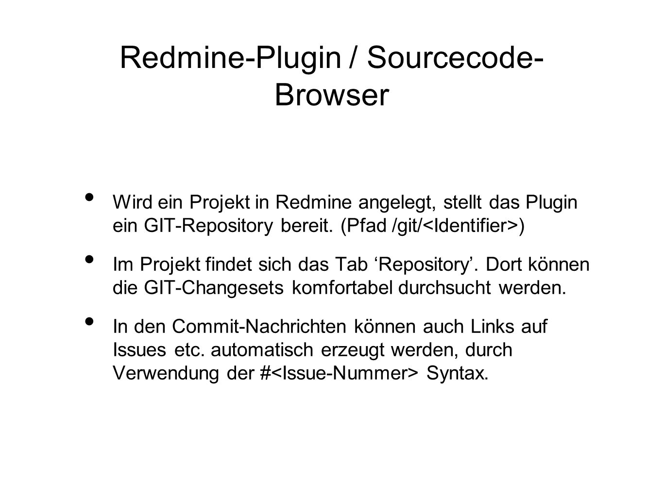 Redmine-Plugin / Sourcecode-Browser