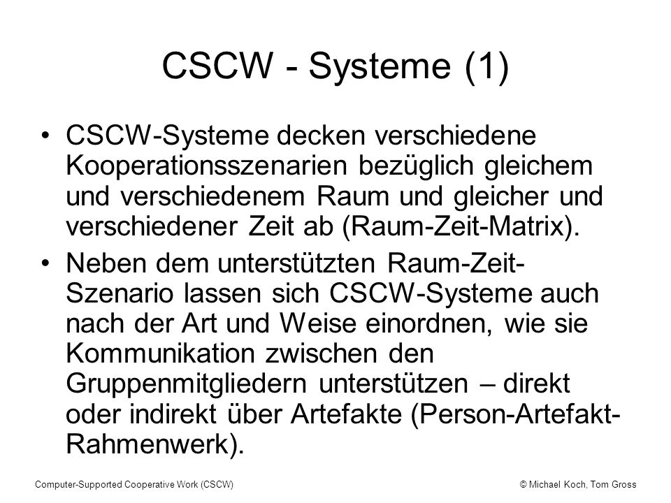 CSCW - Systeme (1)