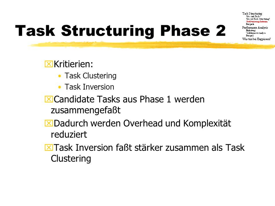 Task Structuring Phase 2