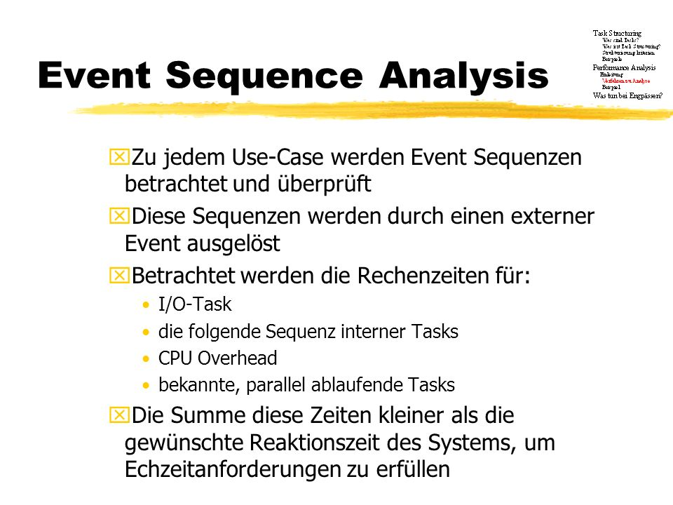 Event Sequence Analysis