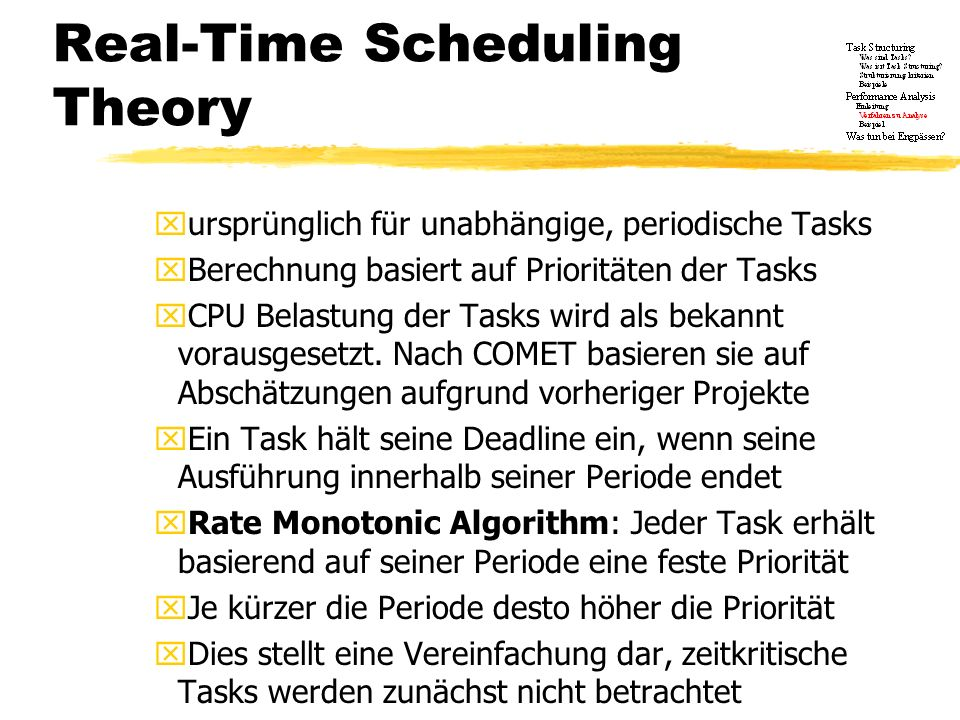 Real-Time Scheduling Theory