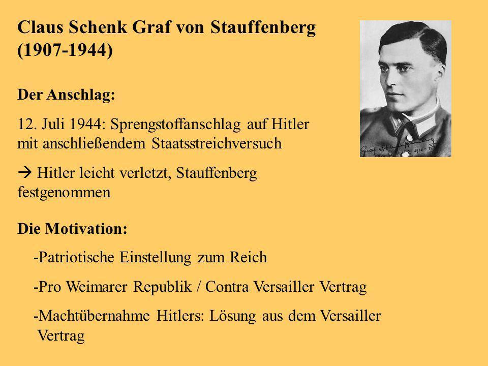 Am Beispiel Von Georg Elser Und Graf Von Stauffenberg Ppt Video