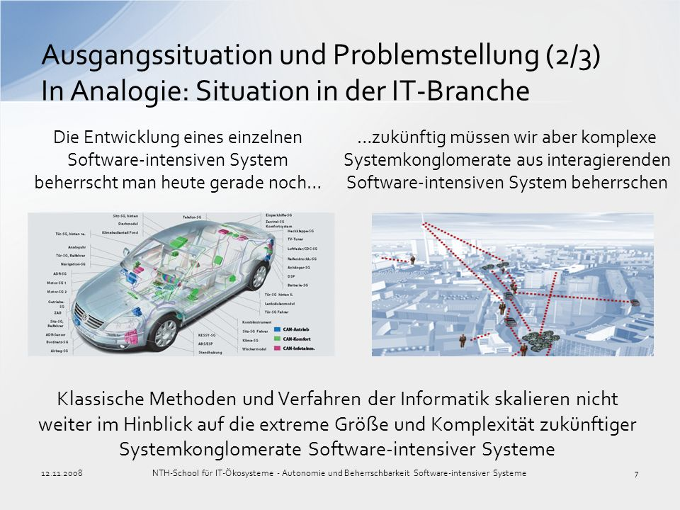 Ausgangssituation und Problemstellung (2/3) In Analogie: Situation in der IT-Branche