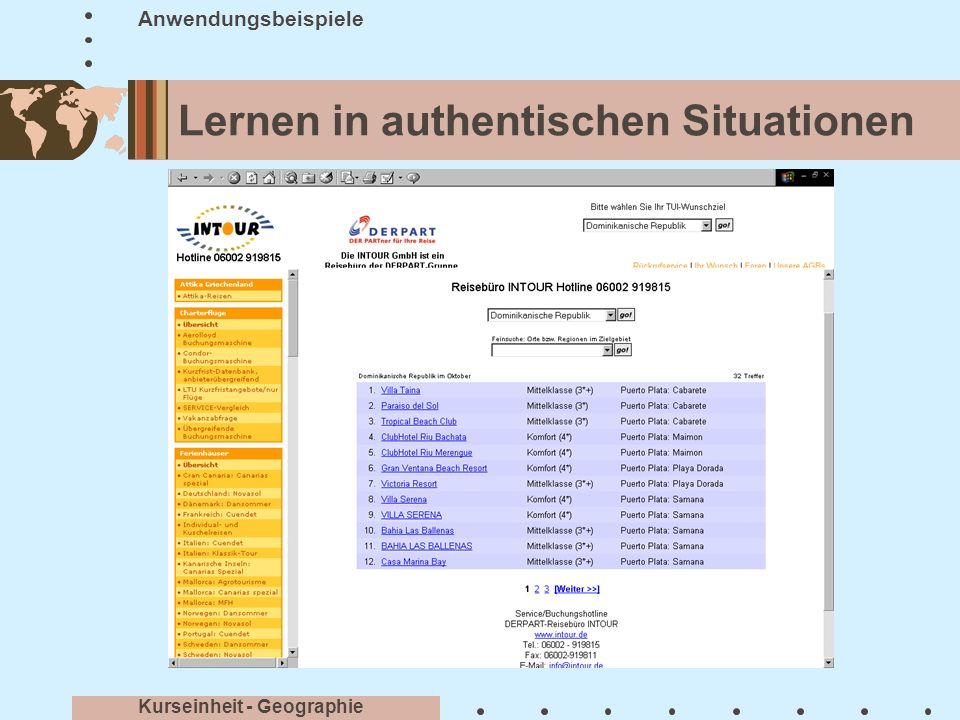 Lernen in authentischen Situationen