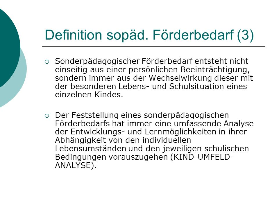 Definition sopäd. Förderbedarf (3)