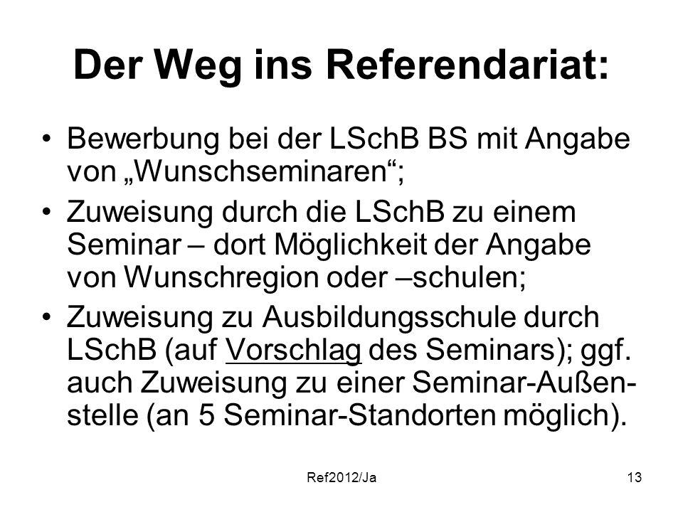der weg ins referendariat - Bewerbung Referendariat