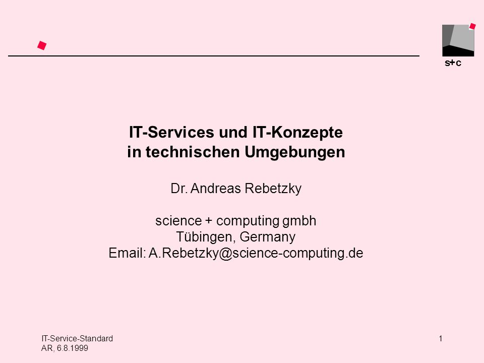 IT-Services und IT-Konzepte