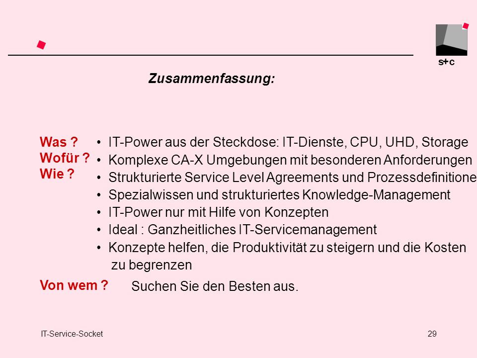 IT-Power aus der Steckdose: IT-Dienste, CPU, UHD, Storage