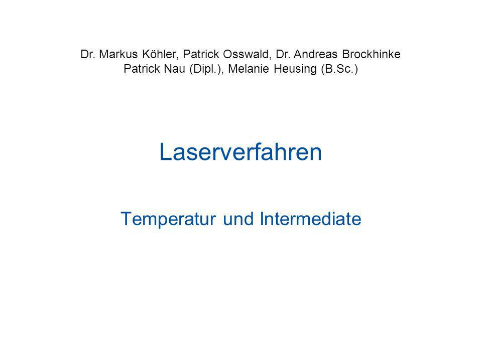 Temperatur und Intermediate
