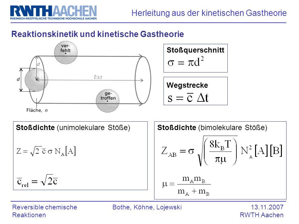 Gleichgewichte in Systemen reversibler chemischer Reaktionen - ppt ...
