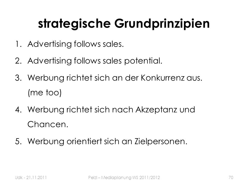 strategische Grundprinzipien