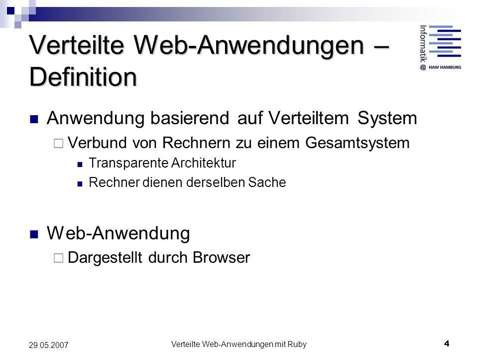 Verteilte Web-Anwendungen – Definition
