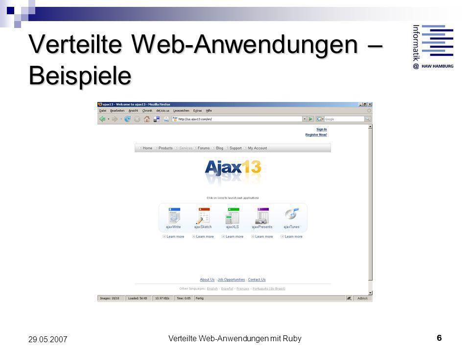 Verteilte Web-Anwendungen mit Ruby - ppt herunterladen