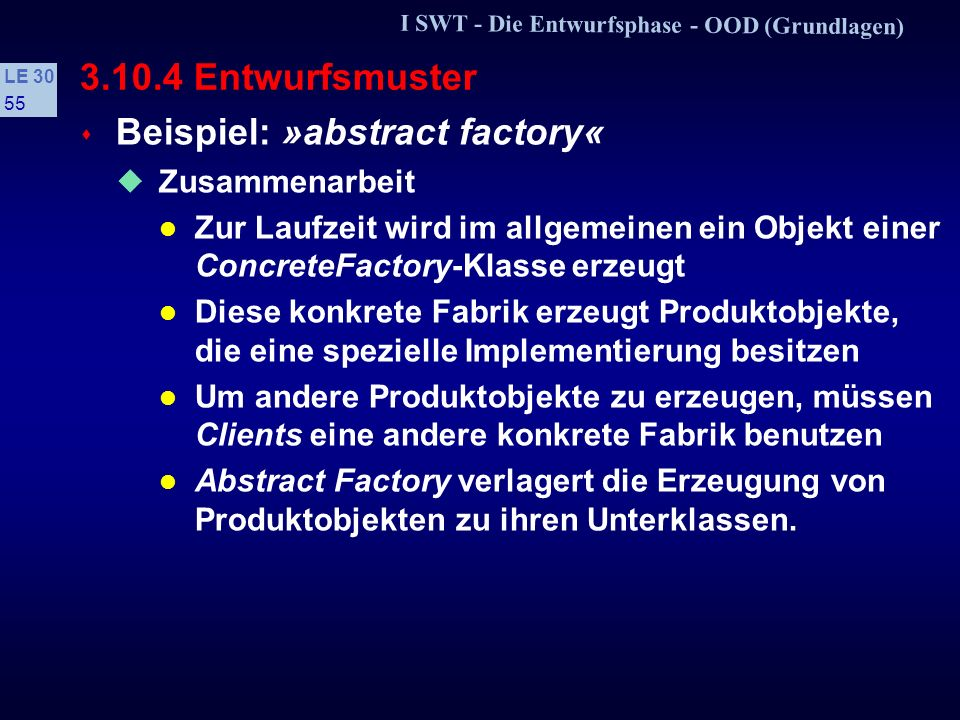 Beispiel: »abstract factory«