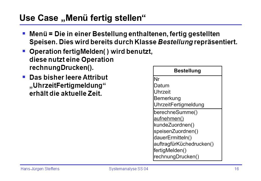 "Use Case ""Menü fertig stellen"