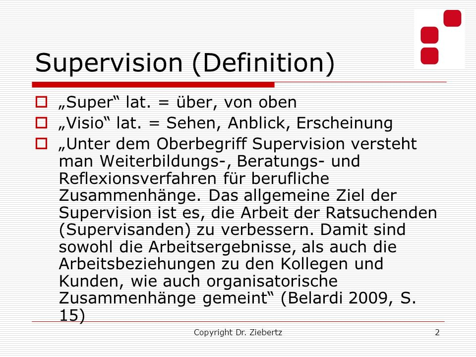 Supervision (Definition)
