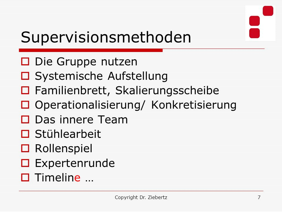 Supervisionsmethoden