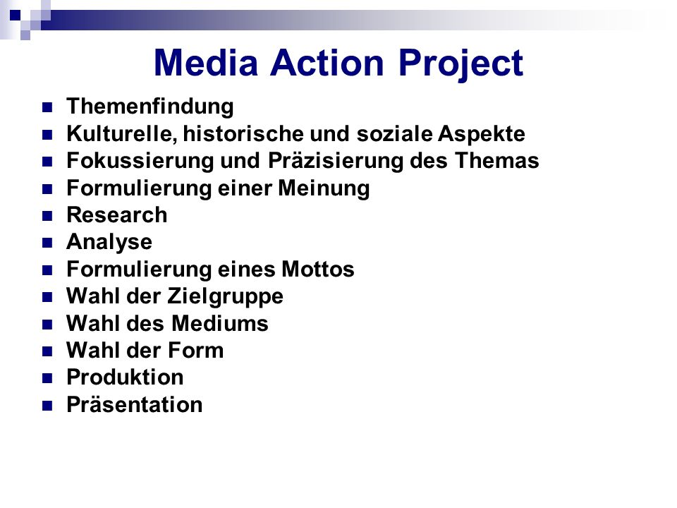 Media Action Project Themenfindung