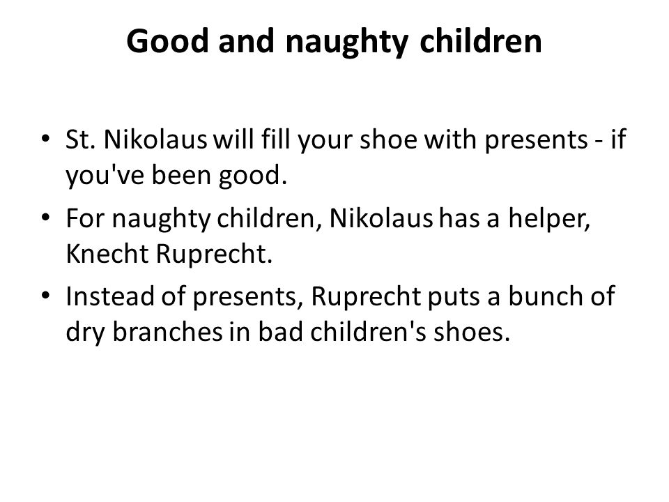 Good and naughty children