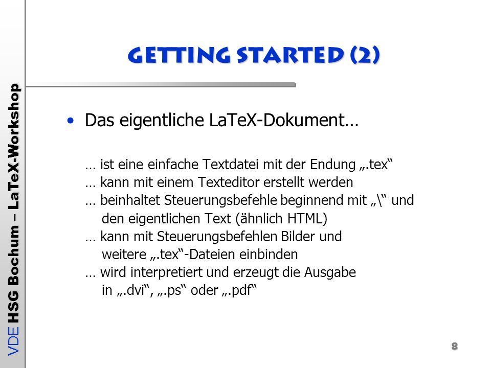 Getting Started (2)