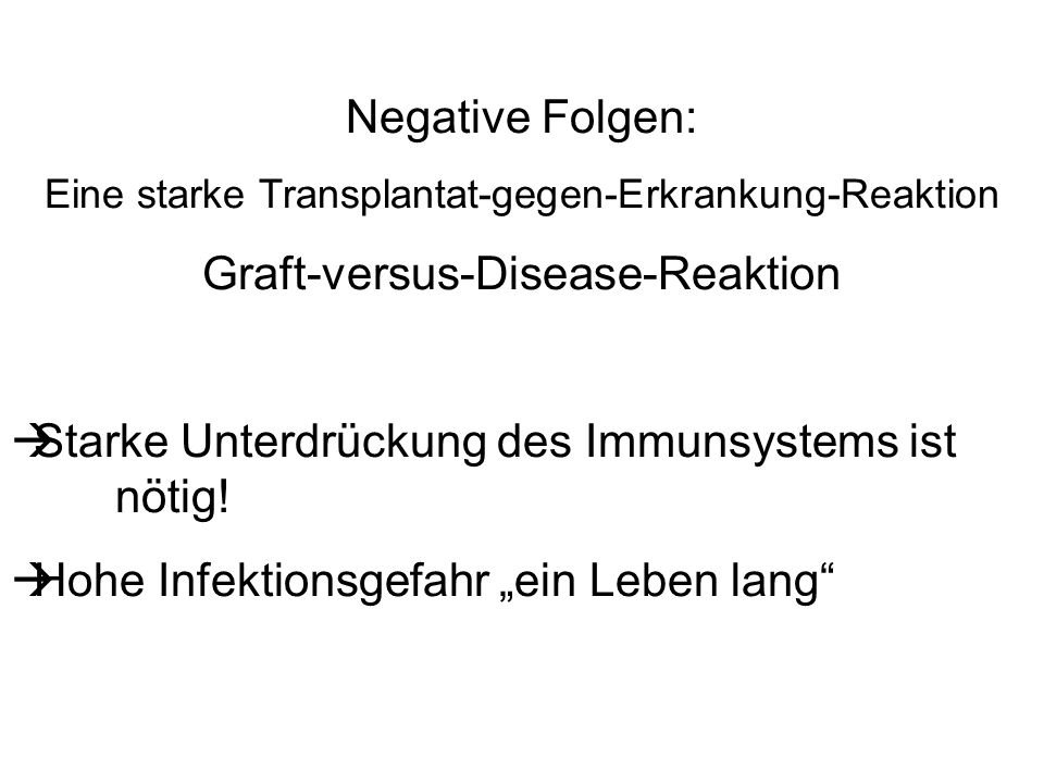 Graft-versus-Disease-Reaktion
