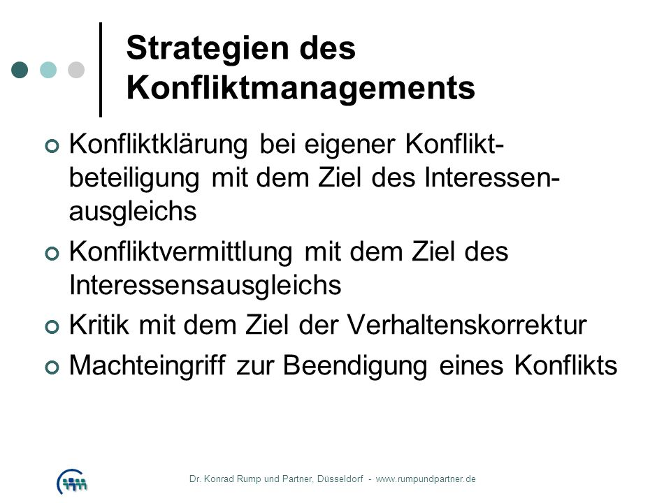 Strategien des Konfliktmanagements