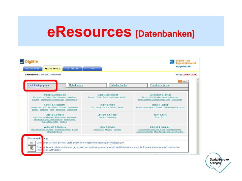 eResources [Datenbanken]