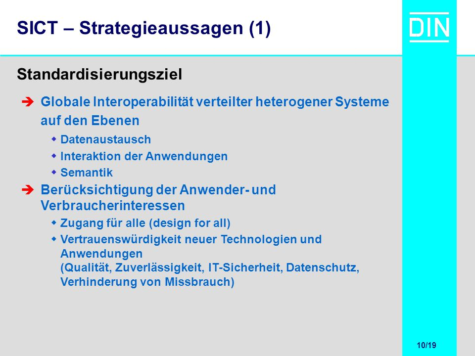 SICT – Strategieaussagen (1)