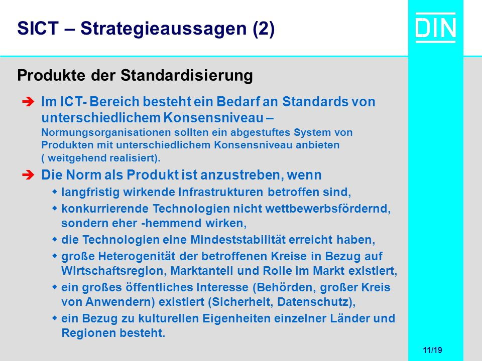 SICT – Strategieaussagen (2)