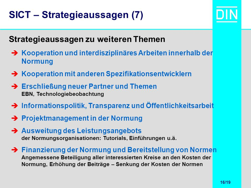 SICT – Strategieaussagen (7)