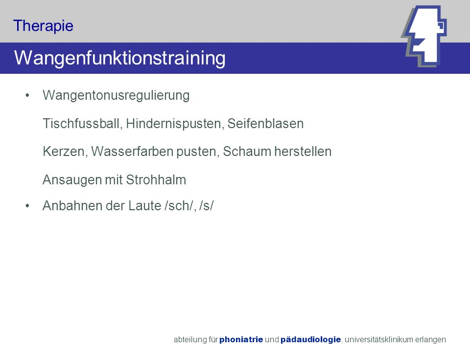 Wangenfunktionstraining