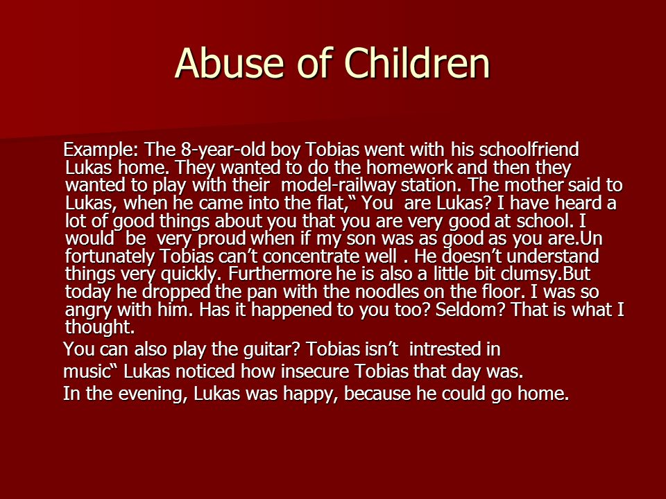 Abuse of Children