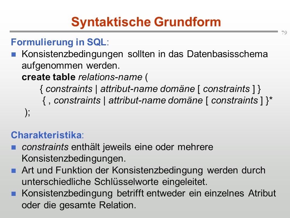 Syntaktische Grundform