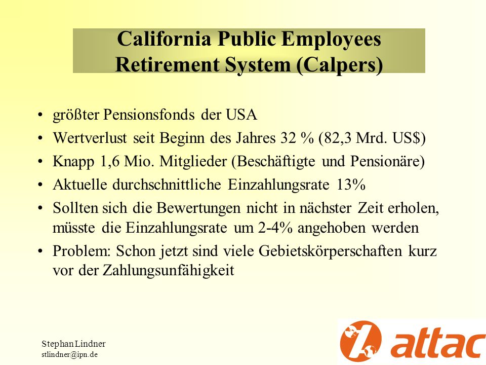 California Public Employees Retirement System (Calpers)