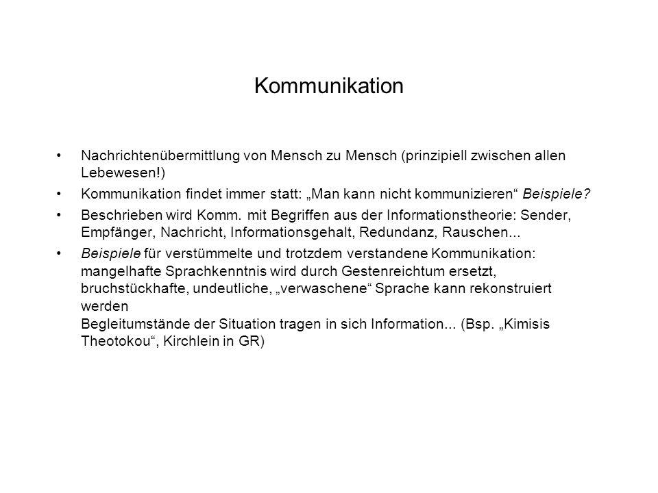 83 kommunikation nachrichtenbermittlung - Man Kann Nicht Nicht Kommunizieren Beispiel
