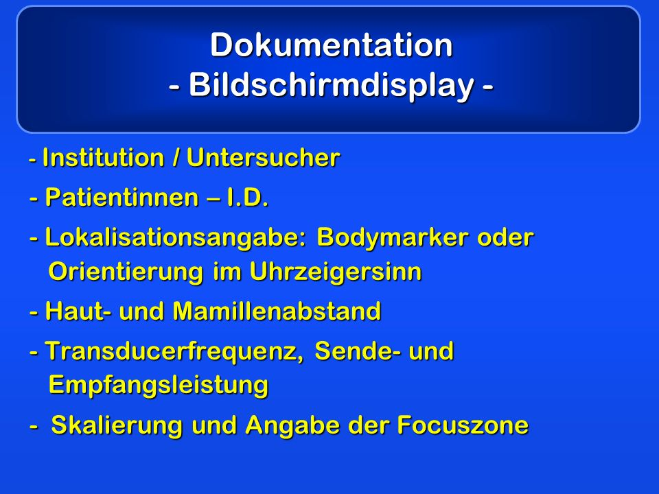 Dokumentation - Bildschirmdisplay -