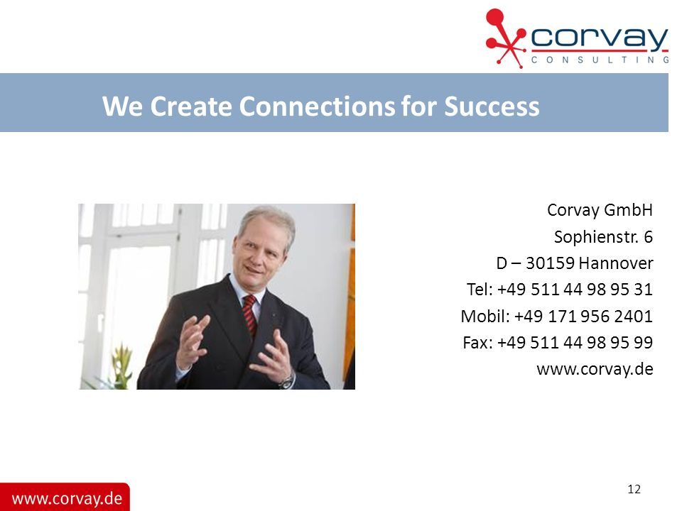 We Create Connections for Success