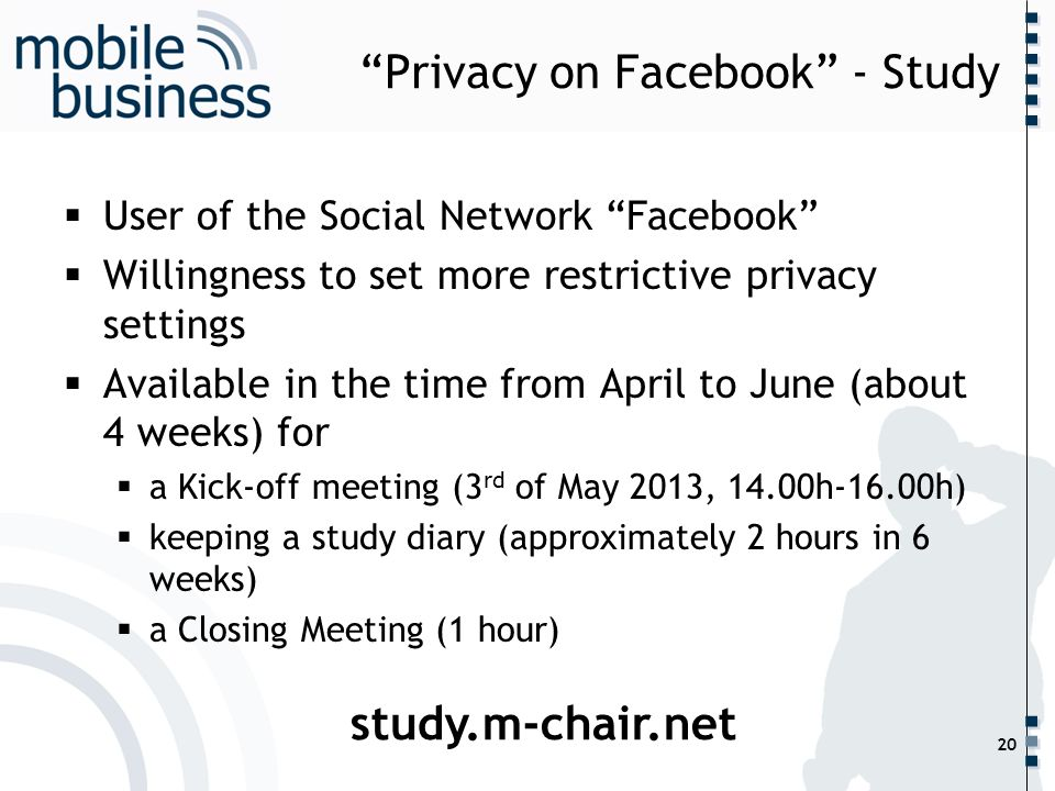 Privacy on Facebook - Study