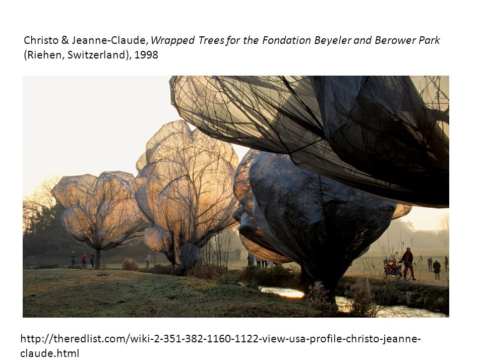 Christo & Jeanne-Claude, Wrapped Trees for the Fondation Beyeler and Berower Park (Riehen, Switzerland), 1998