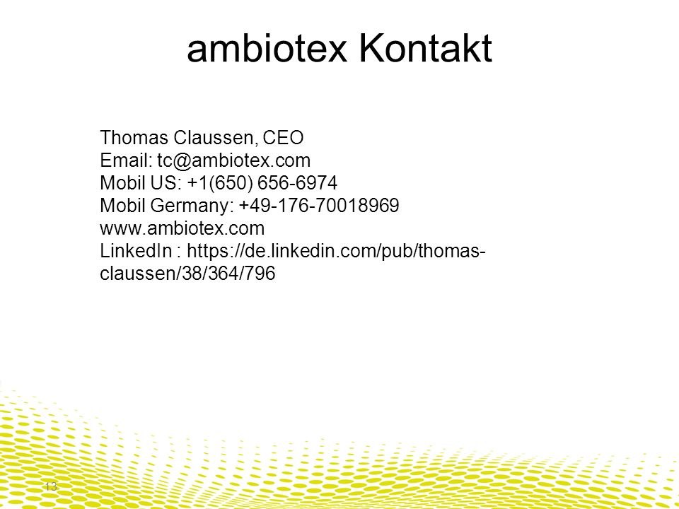 ambiotex Kontakt Thomas Claussen, CEO