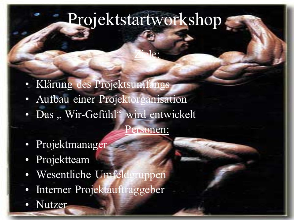 Projektstartworkshop