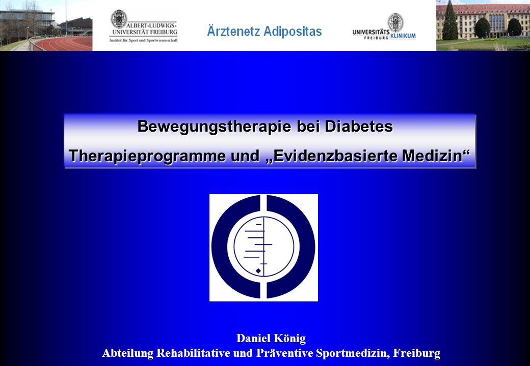 Bewegungstherapie bei Diabetes