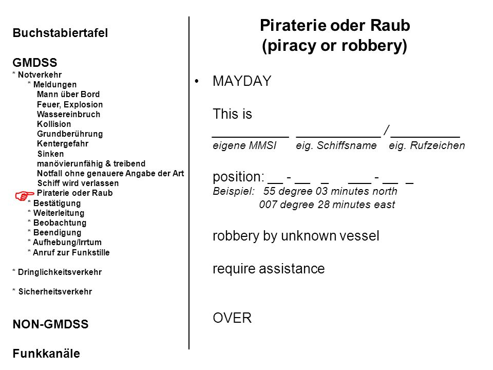Piraterie oder Raub (piracy or robbery)