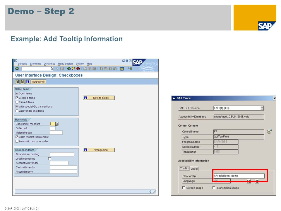 Demo – Step 2 Example: Add Tooltip Information
