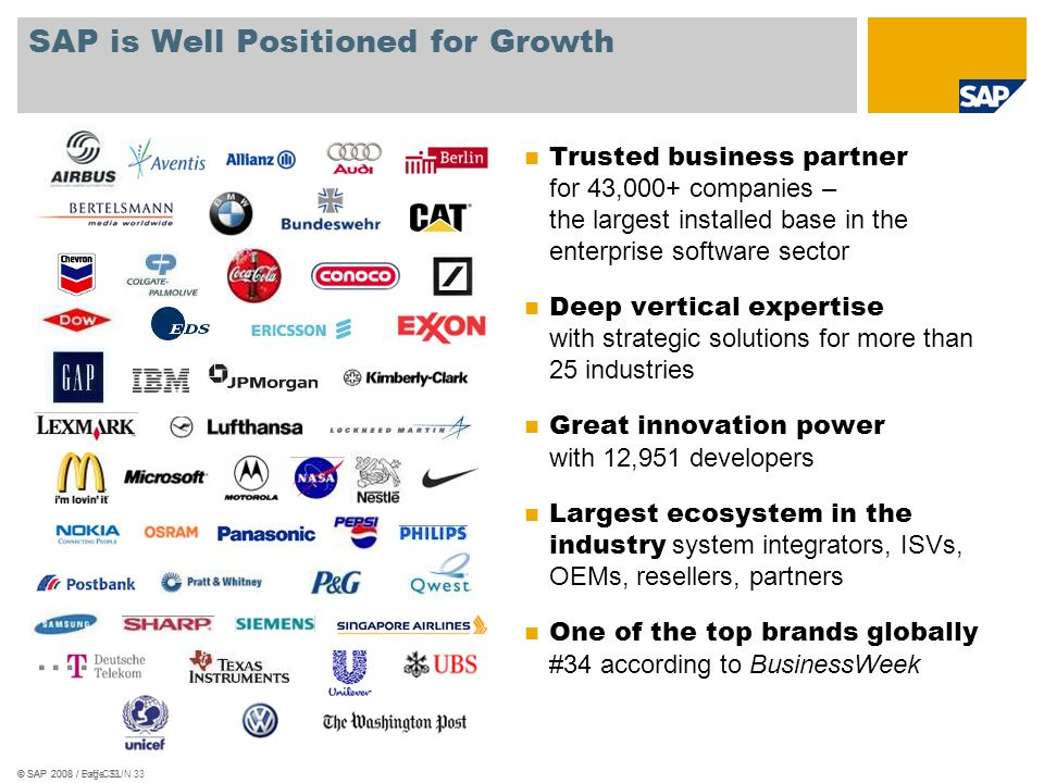 SAP is Well Positioned for Growth