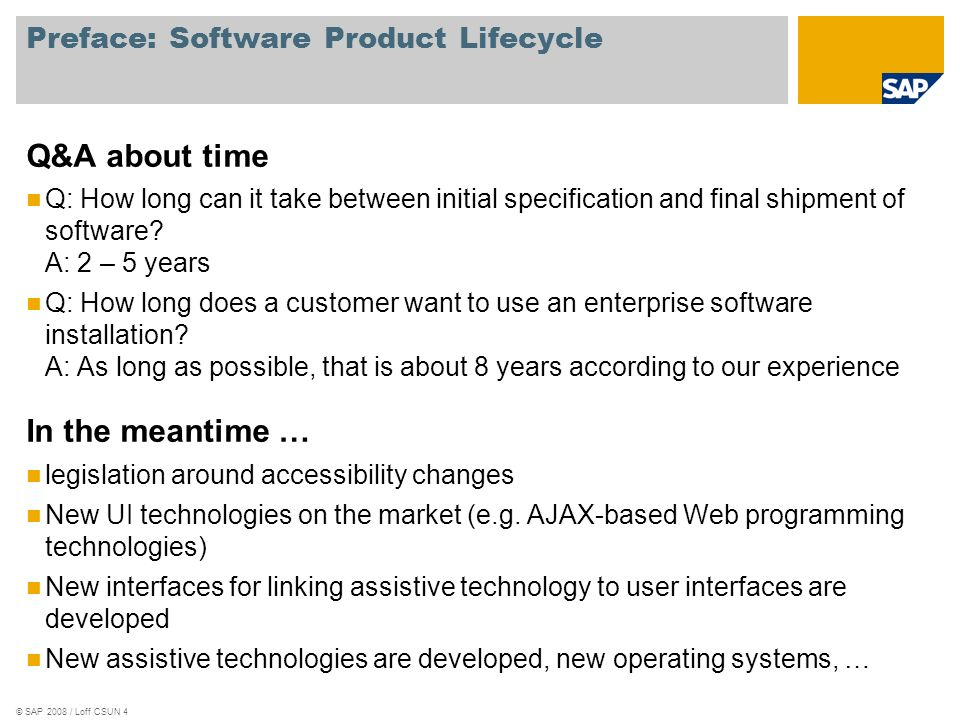 Preface: Software Product Lifecycle