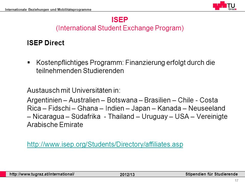 ISEP (International Student Exchange Program)