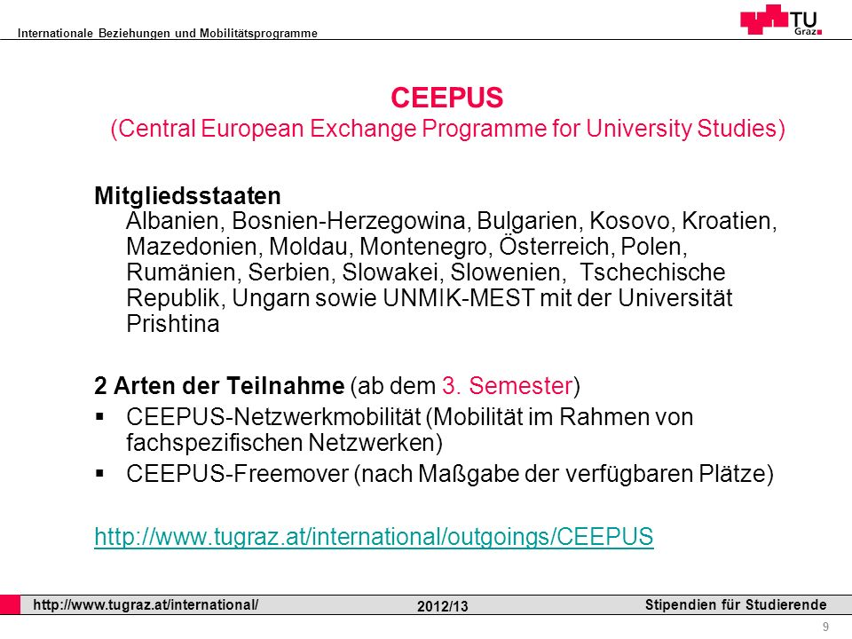 CEEPUS (Central European Exchange Programme for University Studies)